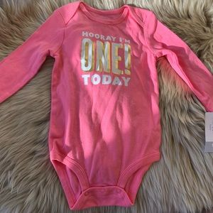 "Carters ""I'm One"" onesie"